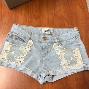 Lace detail jean shorts size 3